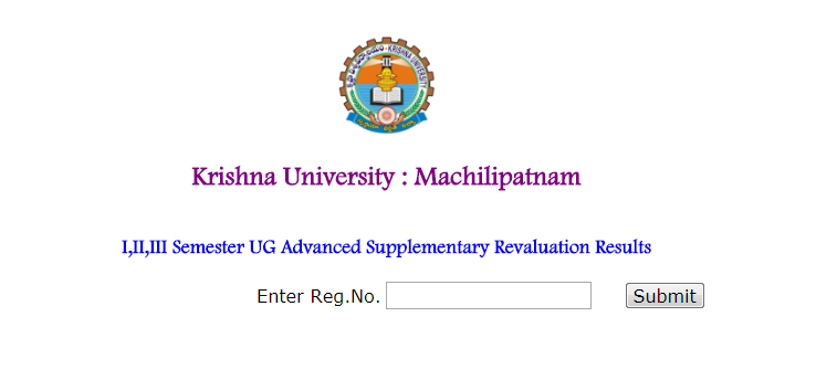 Krishna University KRU Degree Supply Revaluation Results 2017