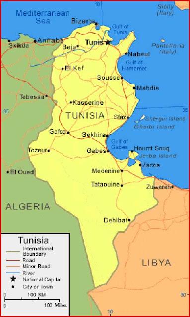 Gambar Peta Tunisia