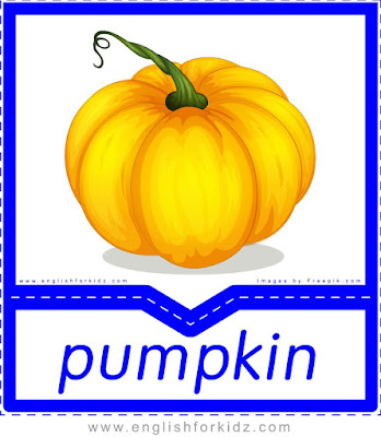 Pumpkin - English flashcards for the fruits, vegetables and berries topic