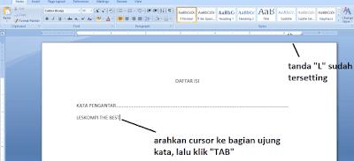 cara buat daftar isi otomatis ms word dengan gambar