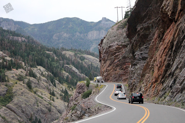 The Million Dollar Highway en route to Ouray, CO