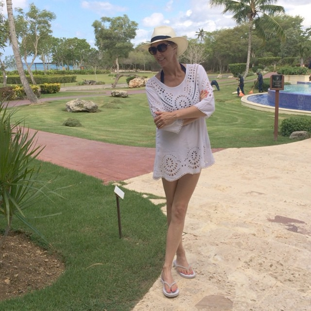 saída de praia mulher de 50