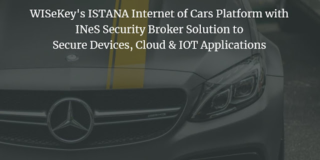 WISeKey's ISTANA Internet of Cars Platform with INeS Security Broker Solution to Secure Devices, Cloud & IOT Applications