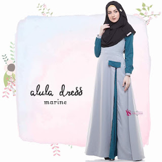 Gamis Valisha Alula Dress Marine
