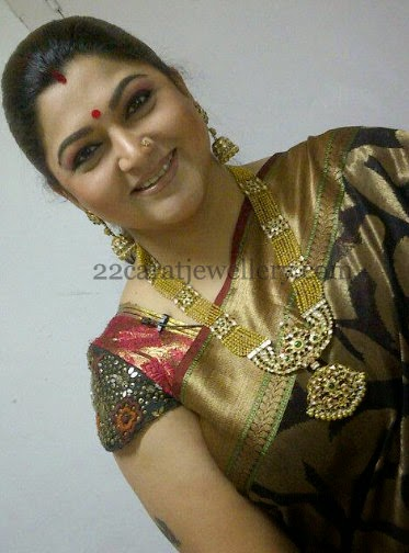 Kushboo Sundar In Patakam Haram Jewellery Designs