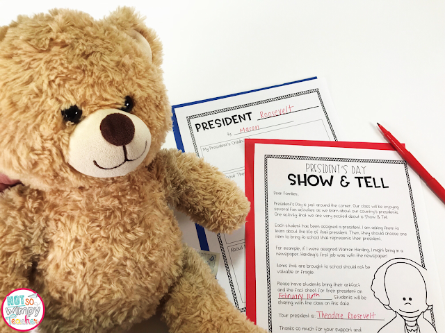 FREE Show and Tell President's Day Activity