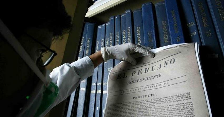 «El Peruano» celebra hoy 194 años de historia - www.elperuano.pe