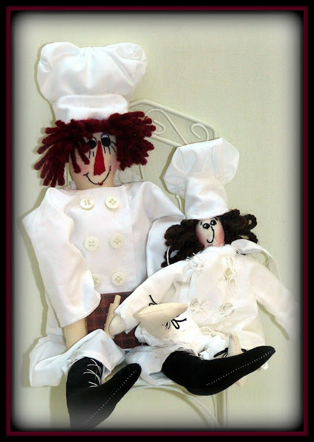 "My 2 in 1 ""Chef Andy - Head Chef To The Stars! and Chef Connor - Food Is My Pleasure!!"" Chef Dolls NEW Combo E-Pattern"