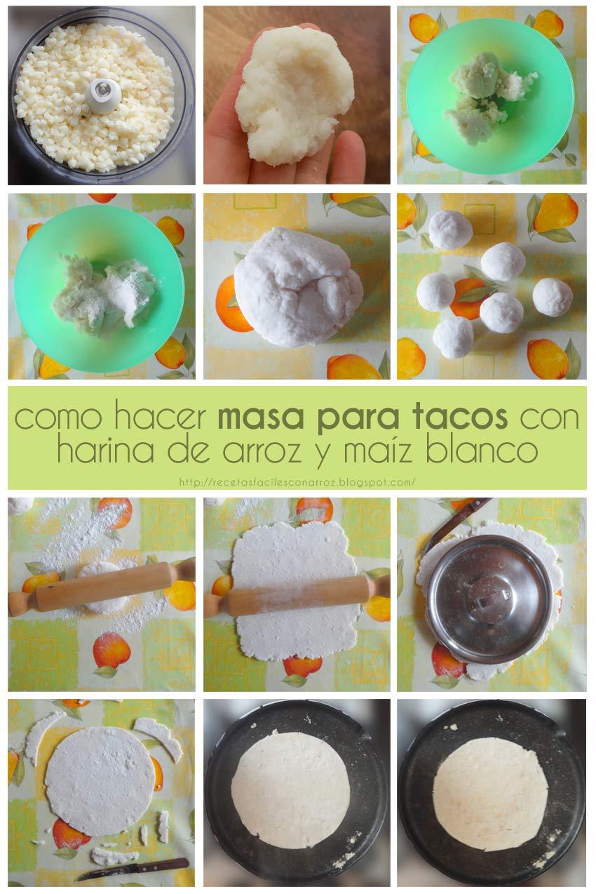 masa para tacos sin gluten fototutorial