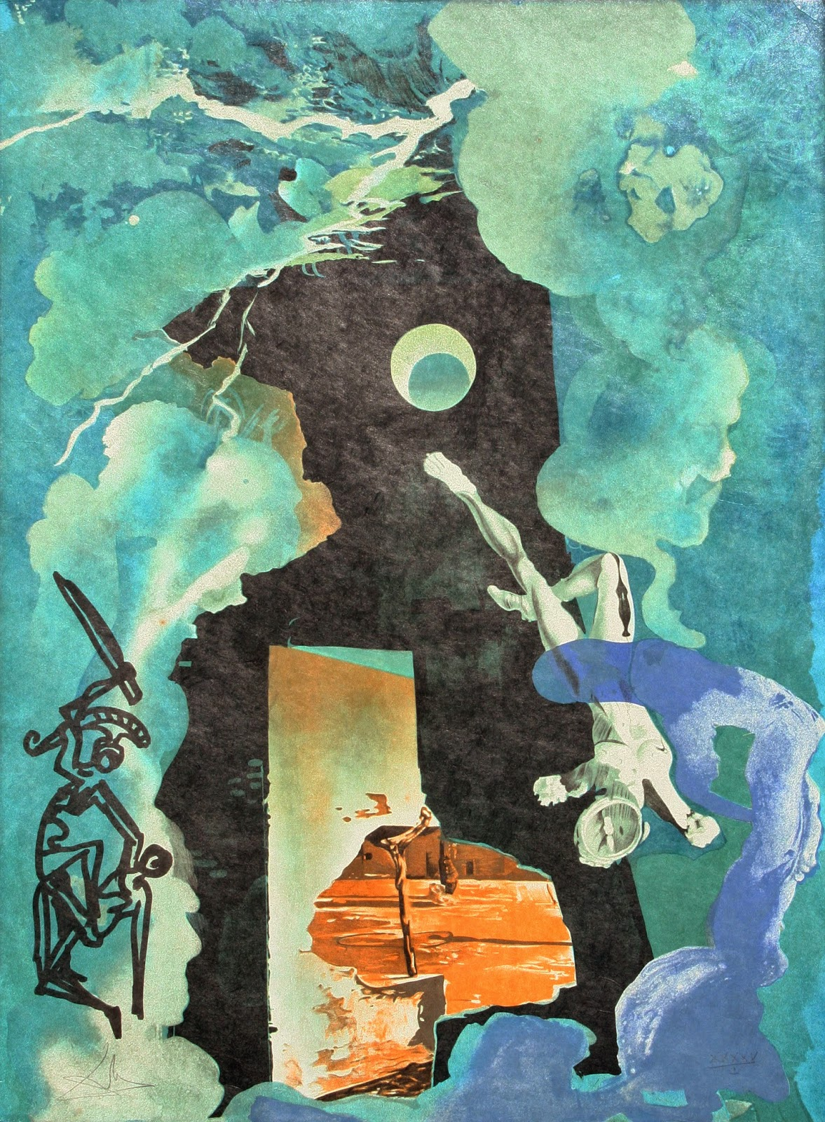 A torre, no tarô de Dalí