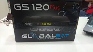 Colocar CS GLOBALSAT%2BGS%2B120%2BPLUS Configuração GLOBALSAT GS 120 PLUS   Atualização comprar cs