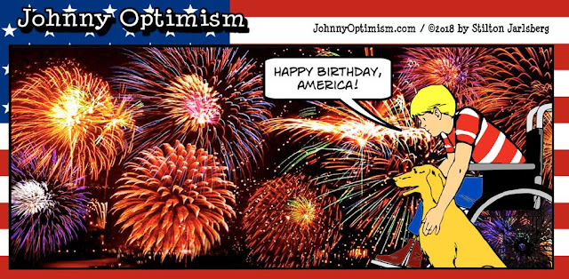 johnny optimism, medical, humor, sick, jokes, boy, wheelchair, doctors, hospital, stilton jarlsberg, 4th of july, fireworks, injuries, fingers, pool, betting