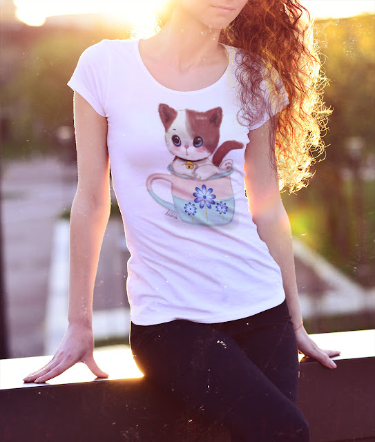 Kedili Tişört Sipariş Ver
