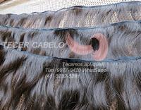 Cabelo liso castanho de 55 cm  Tecer cabelo