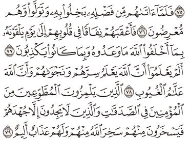 Tafsir Surat At-Taubah Ayat 76, 77, 78, 79, 80