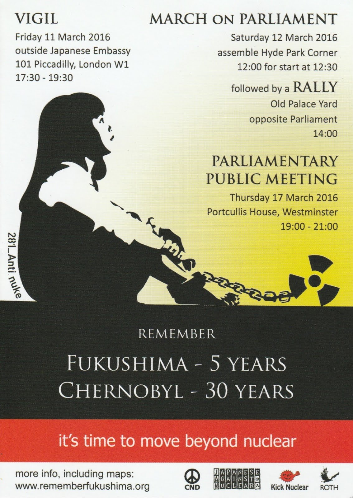 Fukushima Vigil, Rally and Parliamentary Public Meeting.