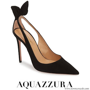 Meghan Markle wore Aquazzura Deneuve Bow Pointy Toe Pump