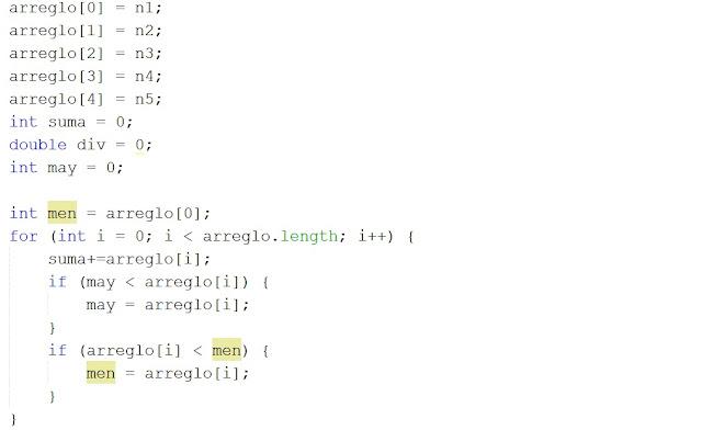 sumar y dividir valores de un arreglo en Java