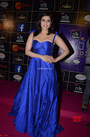 Mannara Chopra in Deep Neck Blue Gown at Zee Telugu Apsara Awards ~  Exclusive 042.jpg