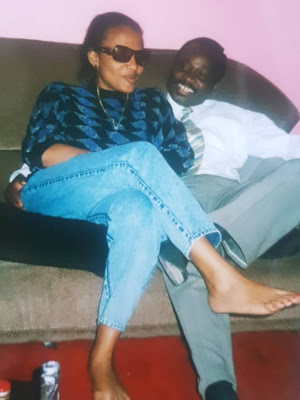 Mad throwback Picture of Ajimobi and his wife, Florence