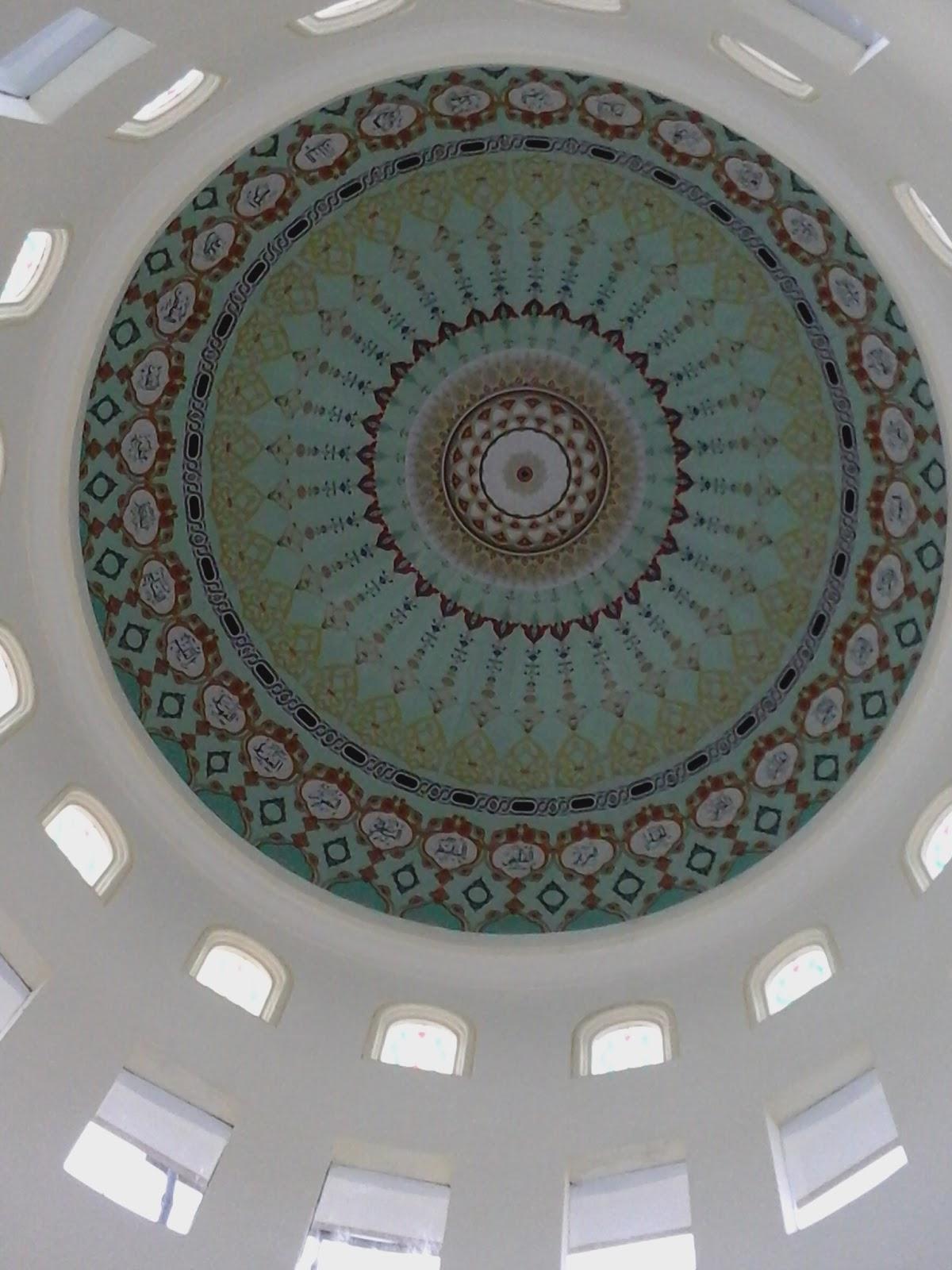 Kubah Masjid Modern Contoh Plafond