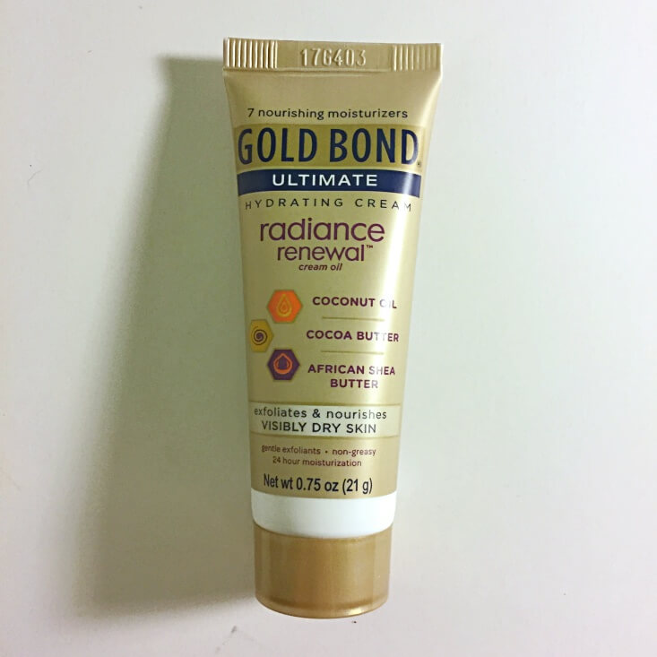 Gold Bond Radiance Renewal Cream Oil