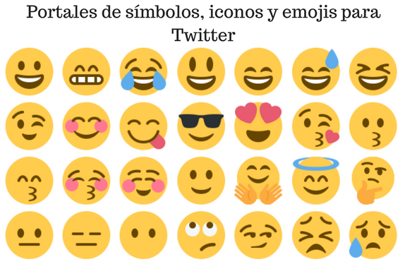 Twitter, redes sociales, social media, iconos, simbolos, portales, emojis