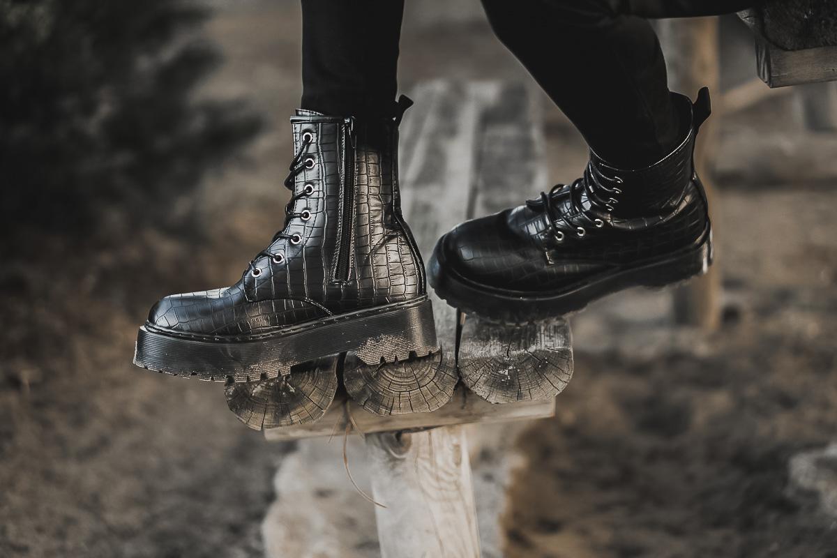 military platform boots - botas militares plataforma estampado serpiente