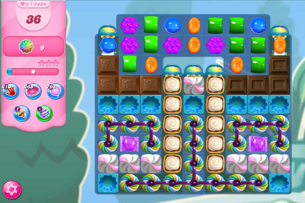 Candy Crush Saga level 7424