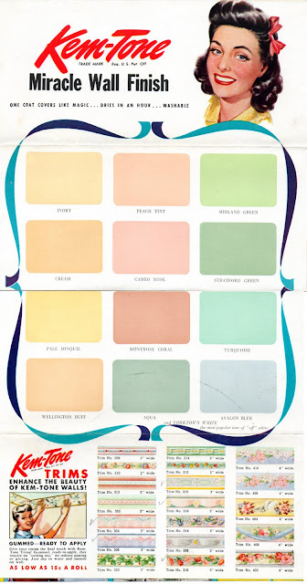 Carmen and ginger 1940 39 s kem tone color chart - Colour charts for interior painting ...