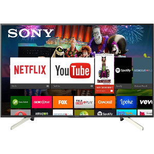 "Smart TV Android LED 49"" Sony KD-49X755F Ultra HD 4k com Conversor Digital 4 HDMI 3 USB 60Hz - Preta"