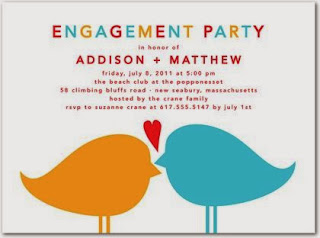 engagement party invitation idea