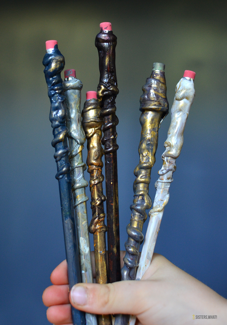 how to make harry potter wands easy