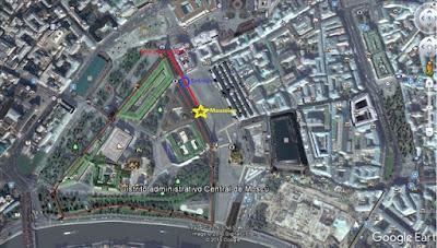 Mapa de entrada al mausoleo de Lenin