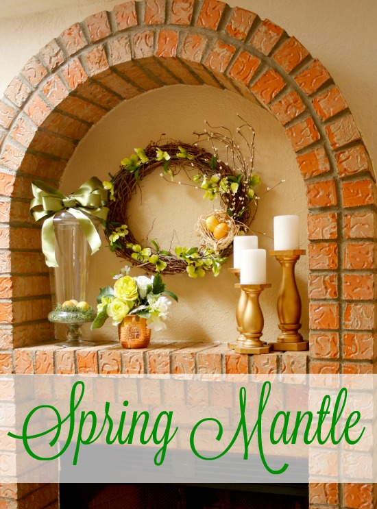 Spring Mantle decor from Jordan's Onion