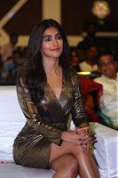 Pooja Hegde looks glamarous in deep neck sleevless short tight golden gown at Duvvada Jagannadham thank you meet function 028.JPG