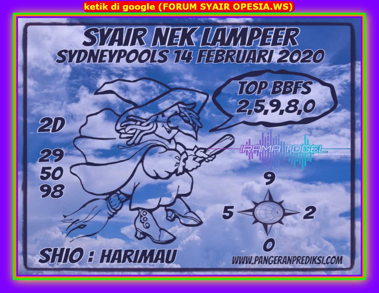 Kode syair Sydney Jumat 14 Februari 2020 92