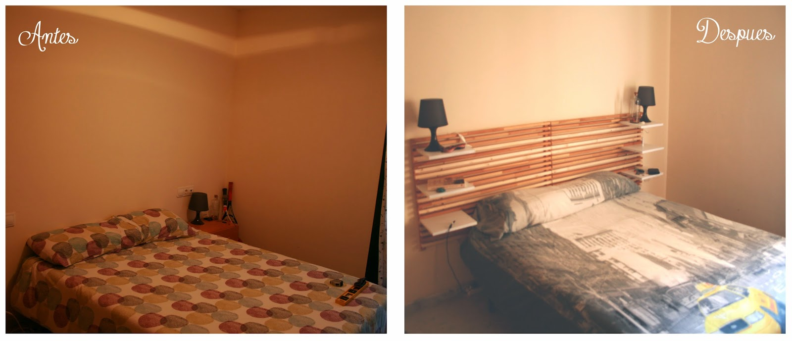 Cabecero cama de matrimonio reciclado diyambo blog for Como hacer una cama alta de madera