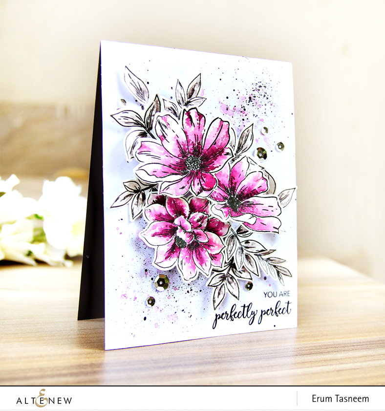 Altenew Perfectly Perfect Stamp Set | Watercolored | Erum Tasneem | @pr0digy0