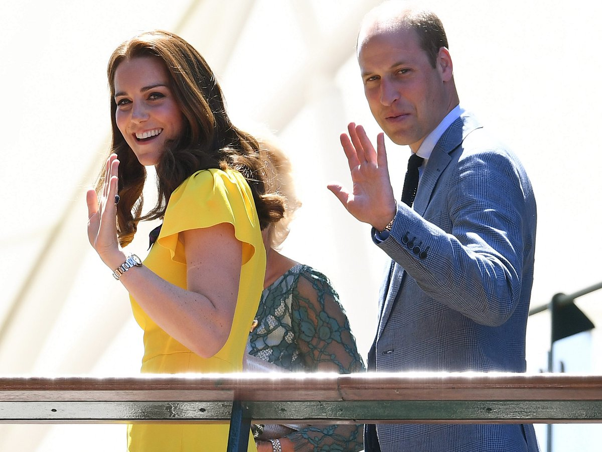 The Duke and Duchess of Cambridge are on hand to watch the men's singles final at Wimbledon today