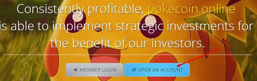 Регистрация в Pokecoin Online