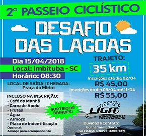 2º Passeio Ciclístico Desafio das Lagoas