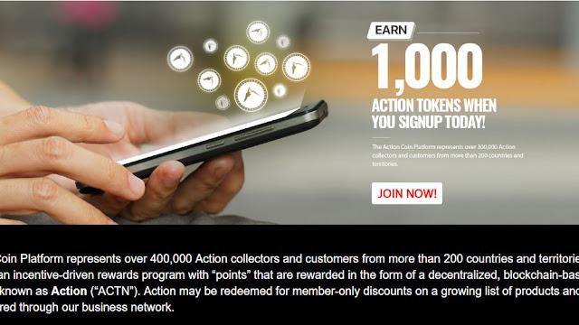 Action Coin Bagi 1000 Token Gratis