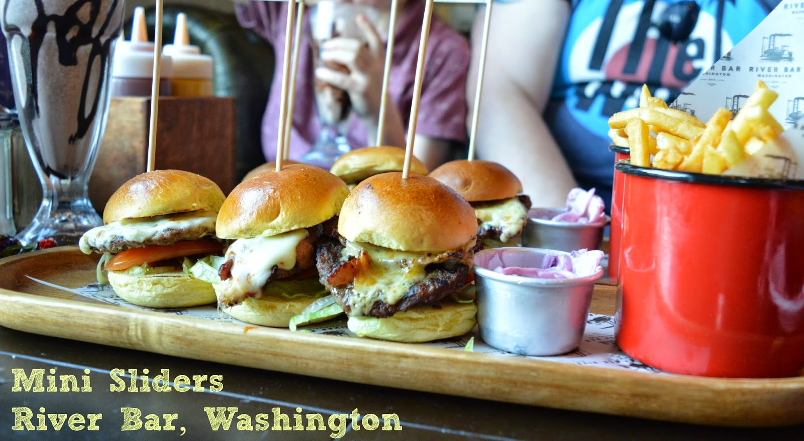 Mini sliders, River bar, Washington