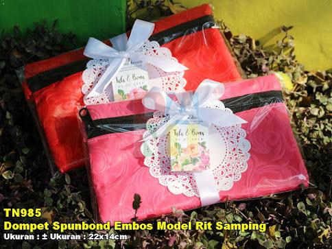 Dompet Spunbond Embos Model Rit Samping
