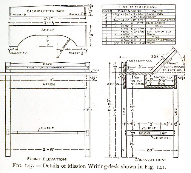 Mission style writing desk plans - How to build a mission writing desk - img 2