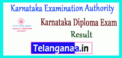 Karnataka Examination Authority Karnataka Diploma CET Result 2019 Counselling