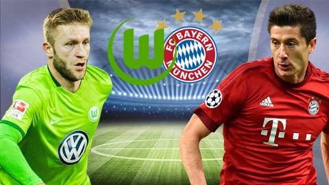 Trận đối đầu giữa Wolfsburg vs Bayern Munich