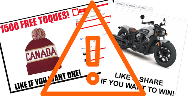 Avoid Click Bait Posts on Free Stuff Pages.