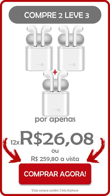 pacote com 3 airphone brasil